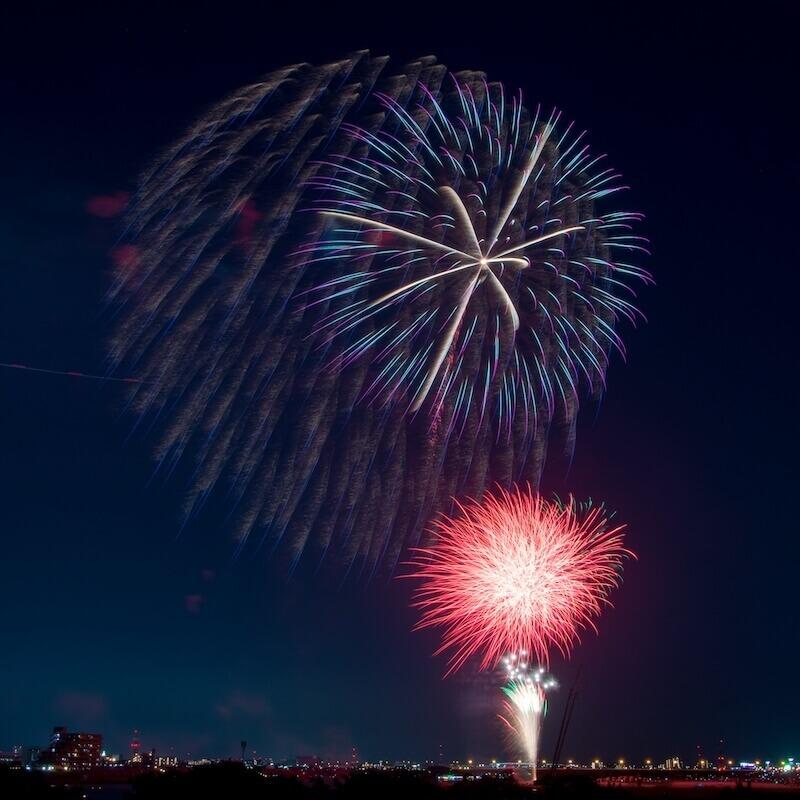 江戸川区花火大会と屋形船